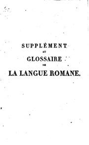 Glossaire de la langue romane