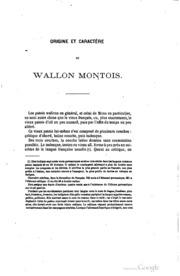 Glossaire étymologique montois microform : ou, Dictionnaire du Wallon de Mons et de la plus grande partie du Hainaut