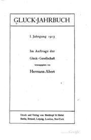 Gluck-jahrbuch: Im Auftrage der Gluck-gesellschaft