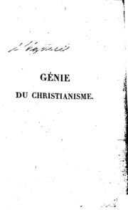 Génie du christianisme, ou, Beautés de la religion chrétienne. microform