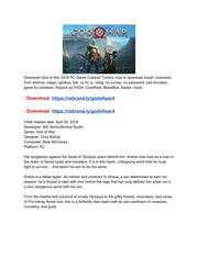 God of War FitGirl Repack : Free Download, Borrow, and