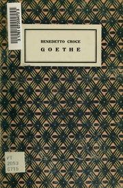 Goethe. Mit Genehmigung des Verfassers verdeutscht von Julius Schlosser