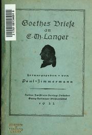Briefe Von Goethe : Goethes briefe an e th langer goethe johann wolfgang