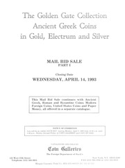 The Golden Gate Collection: Ancient Greek Coins in Gold, Electrum and Silver