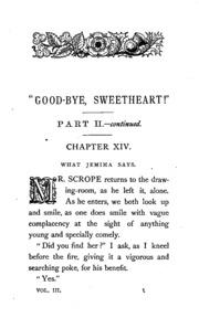 -Good-bye, sweetheart!- 3 vols