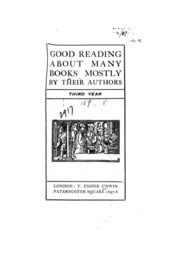 Good Reading about Many Books Mostly by Their Authors : Free