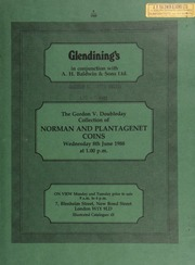 The Gordon V[incent] Doubleday collection of Norman and Plantagenet coins, the Norman series specializing in the mints of East Anglia, but including specimens from other rare mints, and Paxs pennies of William I,  ... [06/08/1988]