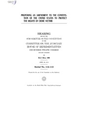 constitution of the united states and crime In the united states, various outlined rules are supposed to be followed in the field of criminal justice, and they give the criminals their rights one of the parts of the constitution of the united states which is most relevant to the ethical standards of corrections professionals is the one which gives the criminals their rights.