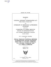 H.A.S.C. No. 113-83 HEARING ON NATIONAL DEFENSE AUTHORIZATION ACT FOR FISCAL YEAR 2015 AND OVERSIGHT OF PREVIOUSLY AUTHORIZED PROGRAMS BEFORE THE COMMITTEE ON ARMED SERVICES HOUSE OF REPRESENTATIVES ONE HUNDRED THIRTEENTH CONGRE