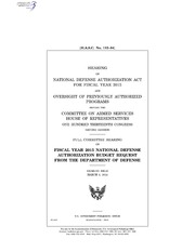 H.A.S.C. No. 113-84 FISCAL YEAR 2015 NATIONAL DEFENSE AUTHORIZATION BUDGET REQUEST FROM THE DEPARTMENT OF DEFENSE