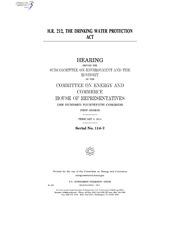 H.R. 212, THE DRINKING WATER PROTECTION ACT