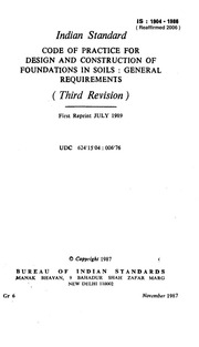 IS 1904: Code of practice for design and construction of foundations