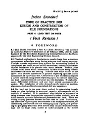 IS 2911-4: Code of practice for design and construction of pile
