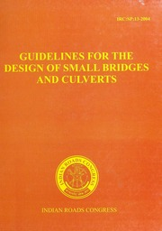 Irc Sp 013 Guidelines For The Design Of Small Bridges And