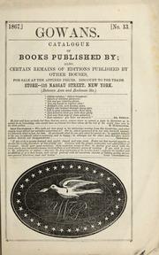 Gowans' catalogue of books ...