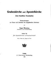 Vol 2: Grabeskirche und Apostelkirche, zwei Basiliken Konstantins: Untersuchungen ...