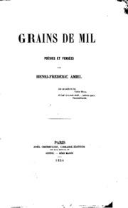 Grains de mil: poesies et pensees