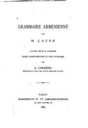 Grammaire arménienne
