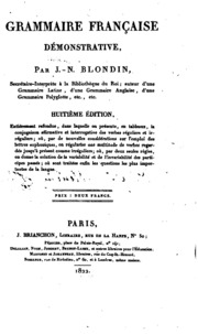 Grammaire française démonstrative