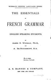 Grammaire Française Pratique à L-usage Des Américains
