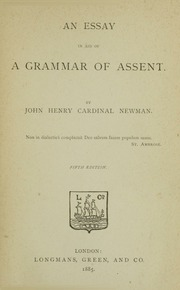aid assent essay grammar in Buy an essay in aid of a grammar of assent on amazoncom free shipping on qualified orders.
