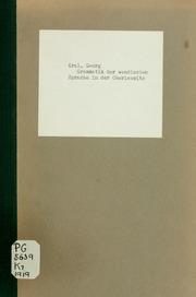 Grammatik der wendischen Sprache in der Oberlausitz