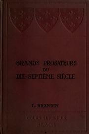 Grands prosateurs du dix-septième siècle; avec notes