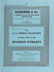 The G.R. Arnold collection of silver coins of the [Roman] Severan Dynasty ... [11/21/1984]