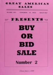 Great American Sales: Buy or Bid Sale, No. 2