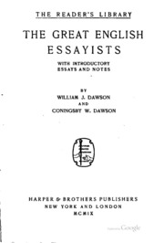 greatest english essayists English essayists (169 p) essayists from northern ireland pages in category british essayists the following 38 pages are in this category.