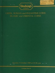 Greek, Roman, and Byzantine coins, [such as] a Julius Caesar aureus 46, veiled head of Pietas, rev. lituus, vase, and axe, very fine;  ... [10/09/1989]