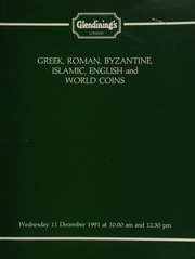 Greek, Roman, Byzantine, and Islamic coins, and English and foreign coins, [including] a Hadrian aureus, laureate head, drapery on shoulder, rev. wolf and twins; a small collection of Islamic gold coins,  ... [12/11/1991]