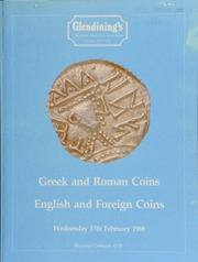 Greek and Roman coins, [including] a Justin I and Justinian I AV solidus, the two emperors, both nimbate, seated facing on throne, hands to breasts, holding globi; [as well as] English and foreign coins, [containing] a group of Anglo-Saxon sceattas;  ... [02/17/1988]