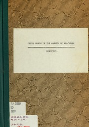 Greek songs in the manner of Anacreon : Anacreon : Free Download