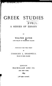 essays from the guardian walter pater Essays from the guardian is a posthumous collection of nine anonymous reviews by walter pater that appeared between 1886 and 1890 in a weekly newspaper commonly.