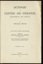 Dictionary of painters and engravers, 1