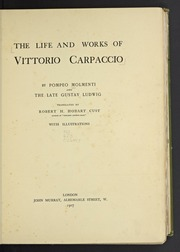 The life and works of Vittorio Carpaccio