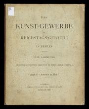 Das Kunst-Gewerbe im Reichstags-Gebäude in Berlin : eine Sammlung der hervorragendsten Arbeiten in Stein, Holz u. Metall, 2