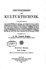 Vol 2: Grundlehren der Kulturtechnik