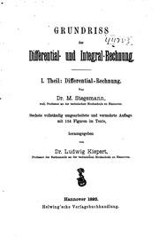 Integral Rechnung : grundriss der differential und integral rechnung ludwig kiepert max stegemann free ~ Themetempest.com Abrechnung
