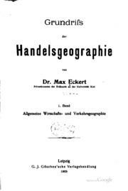 Grundriss der handelsgeographie