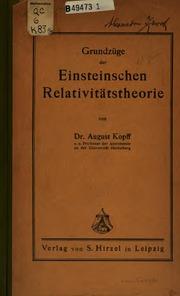 Grundzüge der einsteinschen Relativitätstheorie