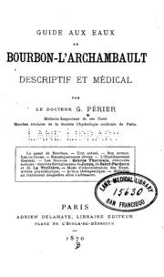 Guide aux eaux de Bourbon-l-Archambault