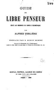 Guide du libre penseur dédié aux memores du Concile oecuménique