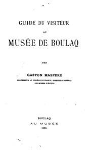 Guide du visiteur musée de Boulaq