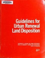 Guidelines for urban renewa...