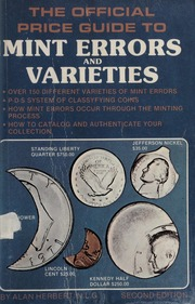 The Official Price Guide to Mint Errors and Varieties