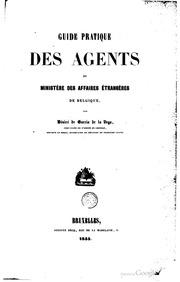 Guide pratique des agents du Ministère des affaires étrangères de Belgique