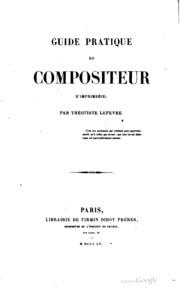 Guide pratique du compositeur d-imprimerie