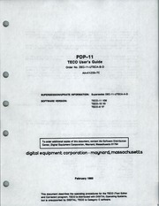 PDP 11 TECO Users Guide : Free Download, Borrow, and